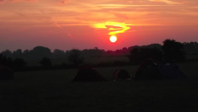 Quesiton mark sunset