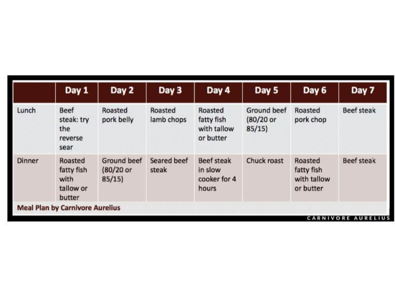 Carnovore diet meal plan week 1