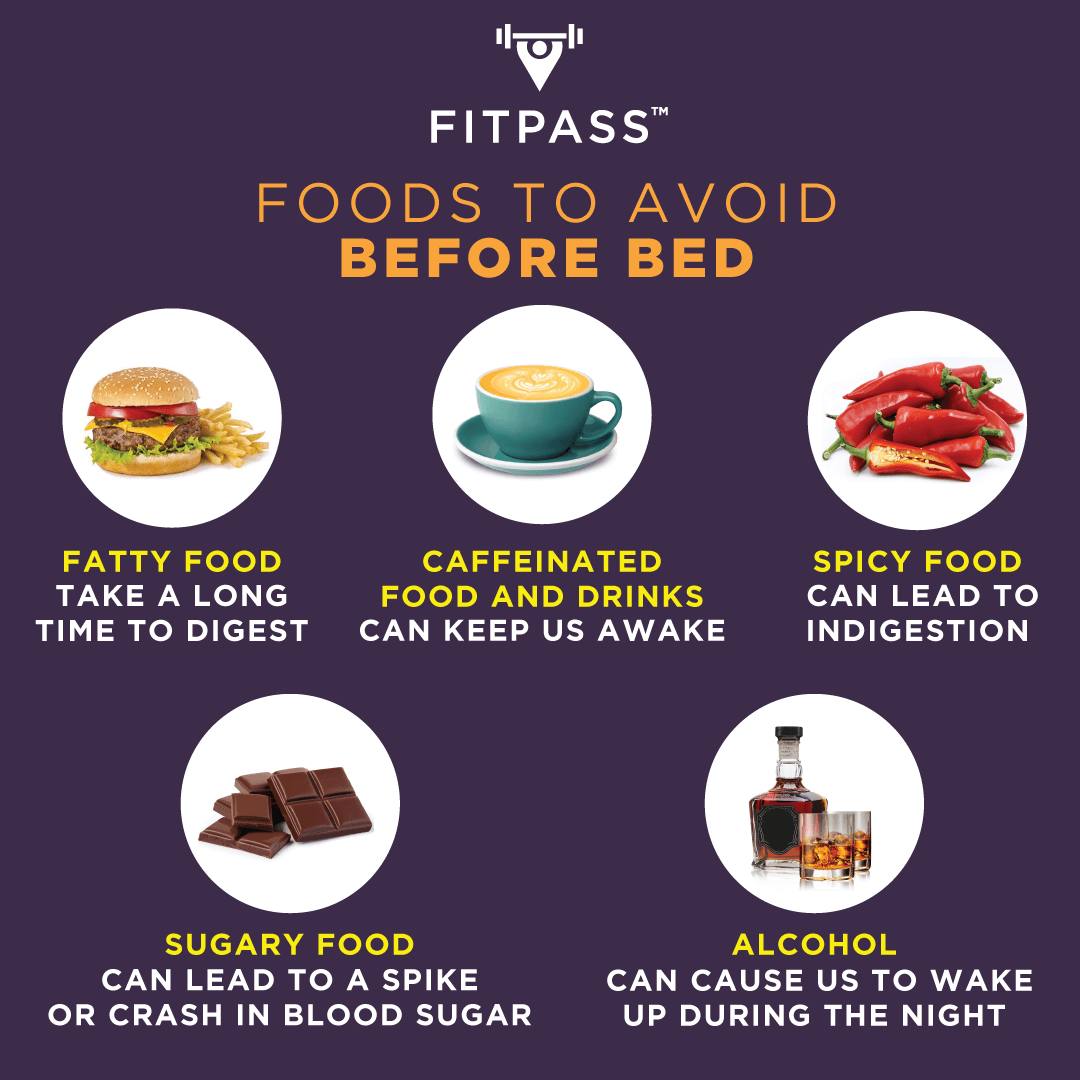 Foods to avoid before bed