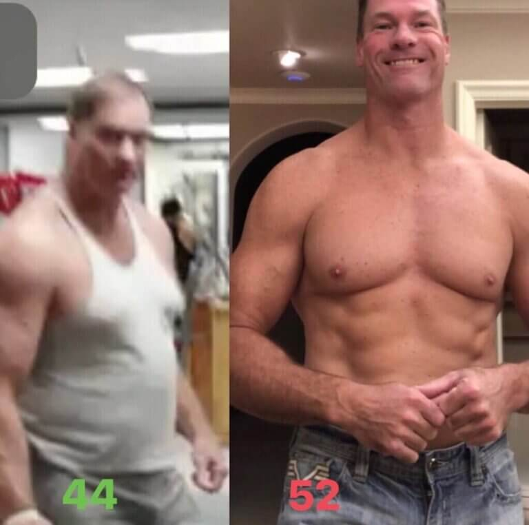 Shawn Baker before and after