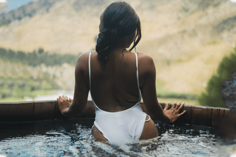 Lady in Toxin Free Hot Tub